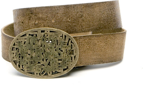 Wordsworth Belt in Distressed Tan