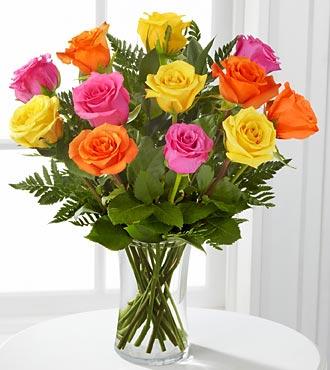 Bright Blush Rose Bouquet