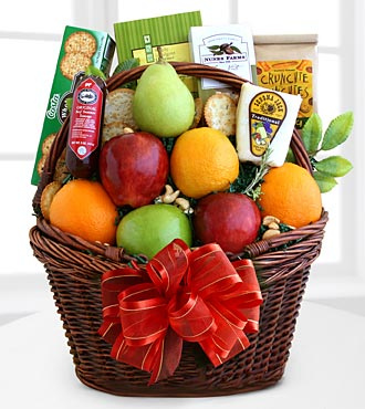 Fruitful Greetings Gourmet Gift Basket