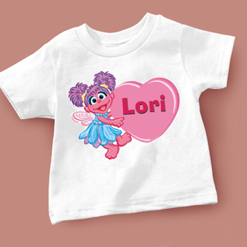 Sesame Characters Valentine T-shirt Choose from 7 different char