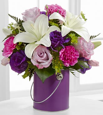 The Color Your Day With Beauty Bouquet - VASE INCLUDED