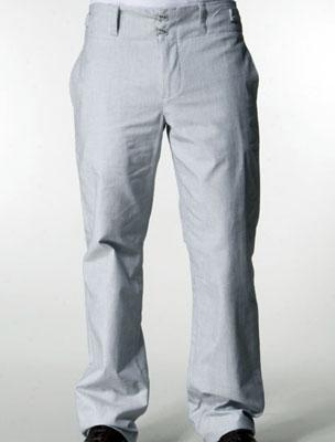 Undertow Lattice Suit Pant in Coconut White/HMS Navy